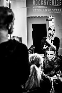 Behemoth, make up, backstage, Nergal