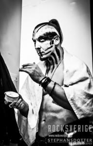 Behemoth, make up, backstage, Nergal. Foto Therés Stephansdotter Björk