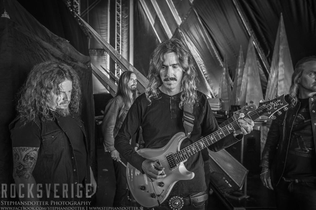 Opeth backstage