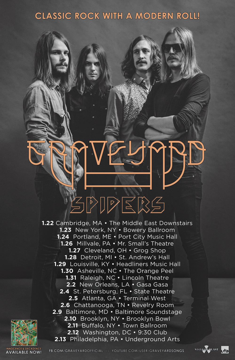 Graveyard Spiders US tour