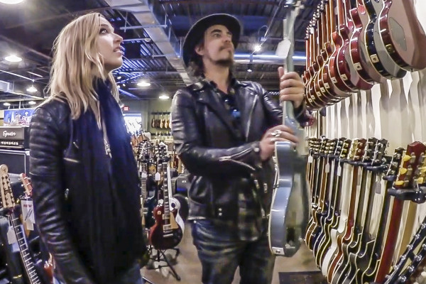Lzzy and Joe at Carter Vintage Guitars